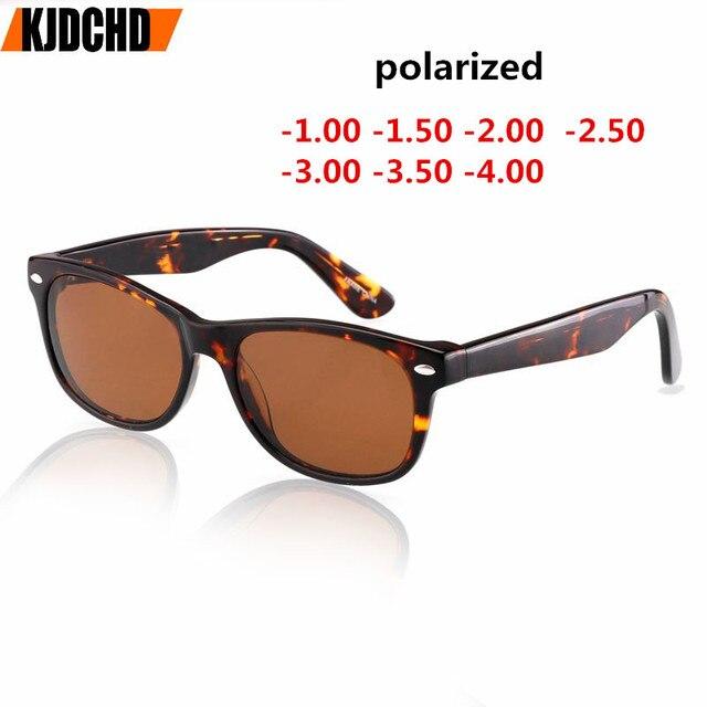 a50754fa516 2018 New Acetate Myopia Polarized Sunglasses Men Retro Square Driving  Prescription Myopia Sun Glasses Male Goggles UV400 Gafas