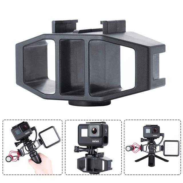 VIJIM GP 1 GoPro Vlogging Stand Bracket 2 Cold Shoe Mount 1/4 Screw for GoPro Hero 7 6 5 SJcam DJI Osmo Action Sport Cameras