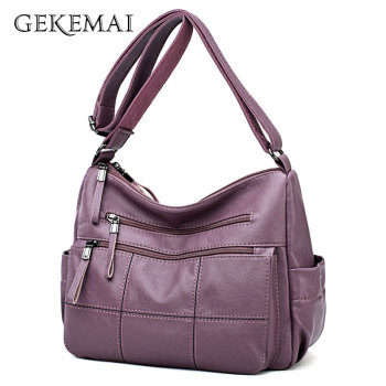 fashion new female pu leather handbag luxury handbags women bags designer tote messenger bags crossbody bag for women sac a main Designer Luxury Ladies Handbags Female Crossbody Bags for Women Feminina Bolsa Leather Shoulder Messenger Bags Thread Sac A Main