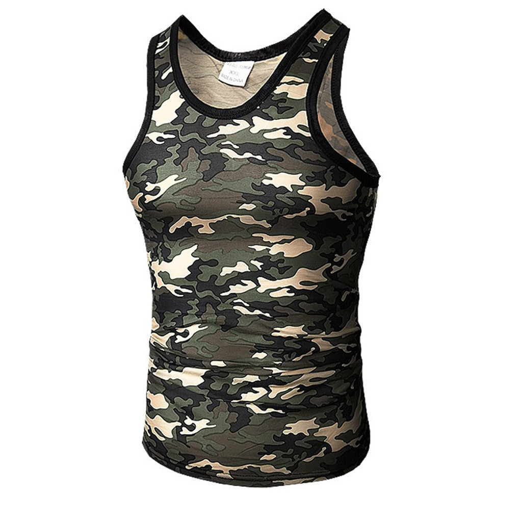 Feitong Brand Fitness Men   Tank     Top   Army Camo Camouflage Mens Gyms Muscle Bodybuilding   Tank     Tops   Clothing Sleeveless Shirt   Tops