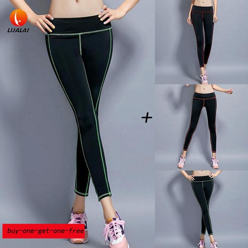 Prix pour Femmes Grade tissu Yoga Pantalon Mèche Élasticité Running Fitness Exercice de Salon Sport Leggings Long Pantalon