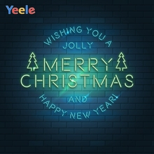 Yeele Merry Christmas New Year Photocall Brick Tree Photography Backdrop Personalized Photographic Backgrounds For Photo Studio