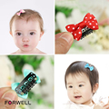 Forwell 10Pcs/lot hairpin hair ornaments for children handmade bow small hairpins comb baby girl hair clip headdress flower