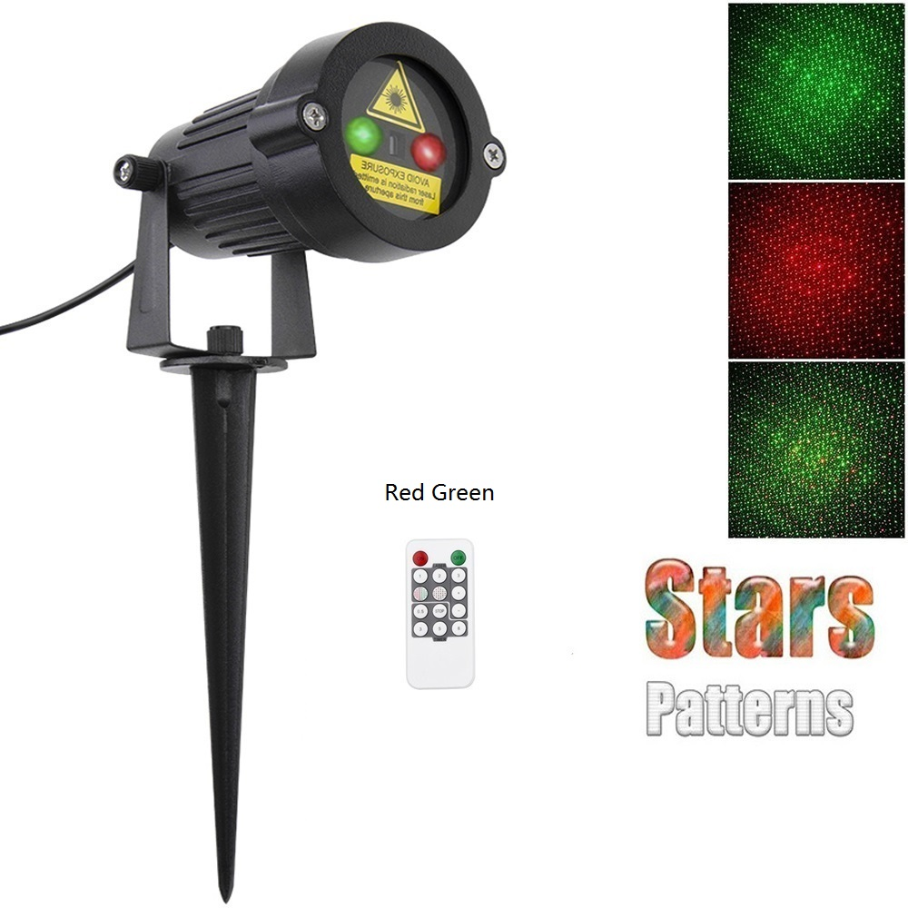 Christmas Laser Light Party Star Projector Outdoor Garden Decoration Waterproof IP65 Red Green Showers Lawn Static For Xmas