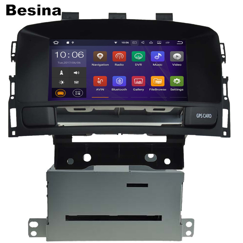 цена на Besina 2 DIN 7 Inch Android 7.1.1 Car DVD Player For OPEL ASTRA J 2010 2011 2012 GPS Navigation 2G RAM Radio Canbus Map RDS WIFI