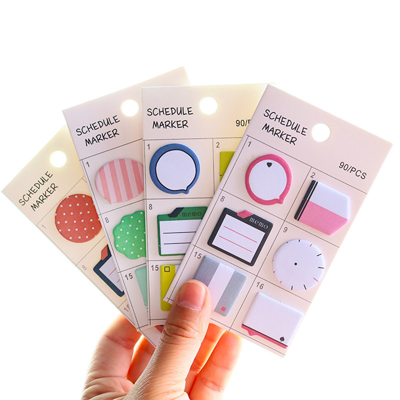 1 PCS New Creative Lovely Index Notes Posted Memo Pad Sticky Notes Memo Notebook Stationery Note Paper Stickers School Supplies