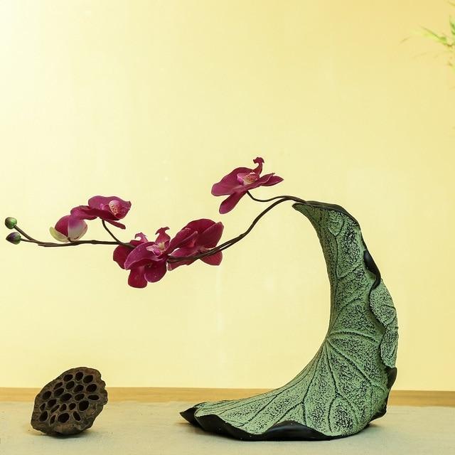 Kreative Kunst Moderne Chinesische Vase Retro Farben Dekoration Wohnzimmer  Von Getrockneten Blumenvase Den Eingang Kleine Vase