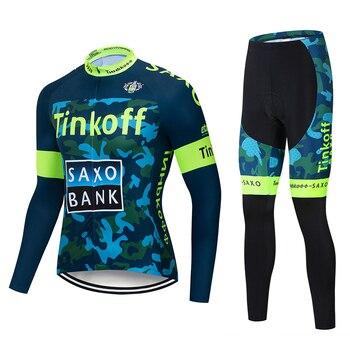 2019 Tinkoff saxo banco de manga larga Ciclismo Jersey conjunto Ropa Ciclismo...
