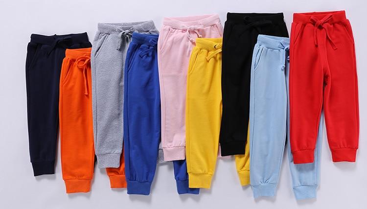 Retail New Warm Velvet Pants For 2-10 Yeas Solid Boys Girls Casual Sport Pants Jogging Enfant Garcon Kids Children Trousers 2