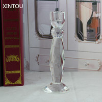 XINTOU Christmas Sale Crystal Glass Candle Holders Romantic Valentine S Day Wedding Bar Tableware Decoration Candlestick