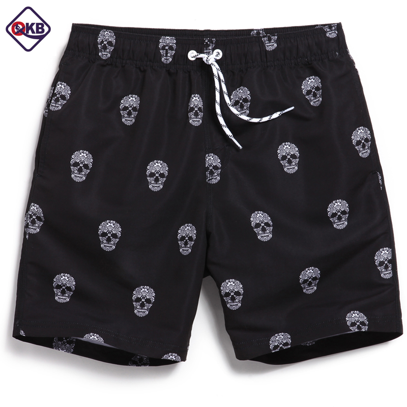 QIKERBONG Men Beach   Shorts     Board   Trunks   Shorts   Casual Quick Drying Male Swimsuits Bermuda flamingo fashion print Active   shorts