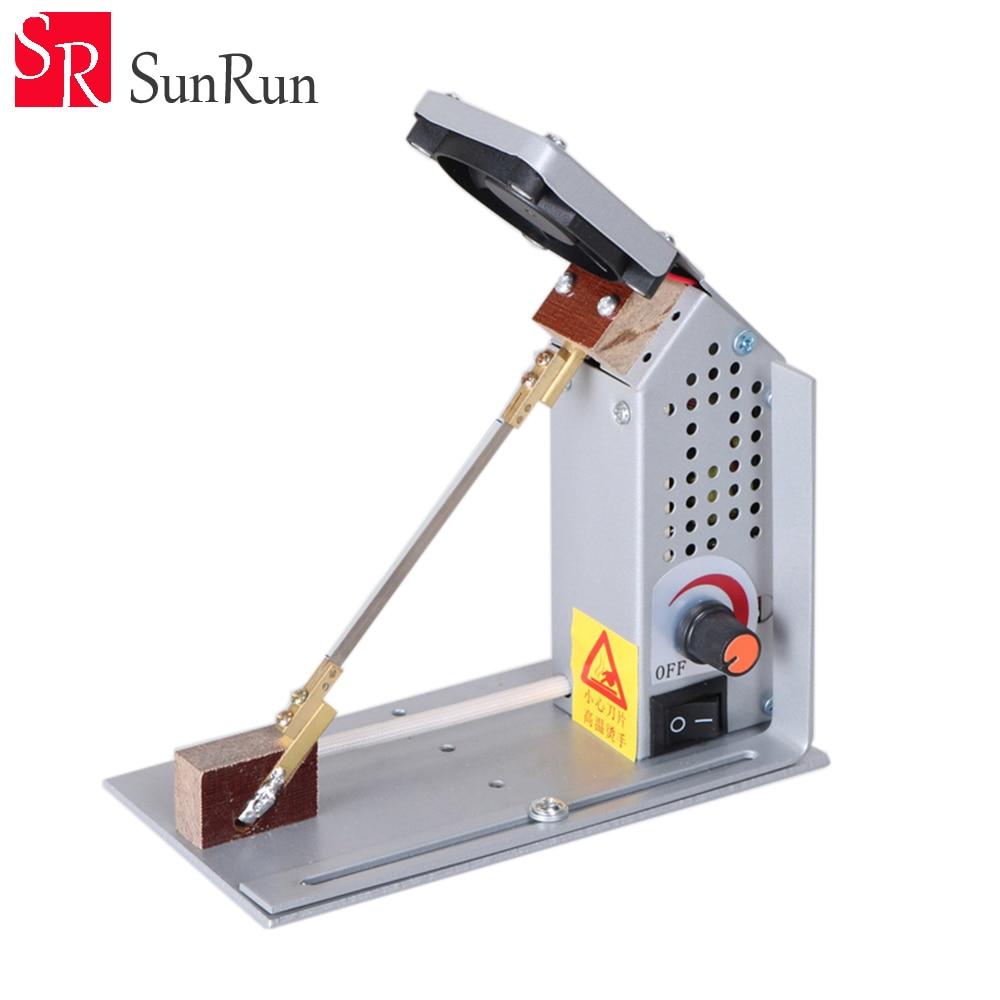 Adjustable YC 18 temperature electrothermal cutting machine 220V Ribbon cutting machine nylon satin heating cutting machine