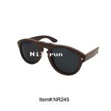luxurious pilot ebony wooden sun shades with metallic pin ornament
