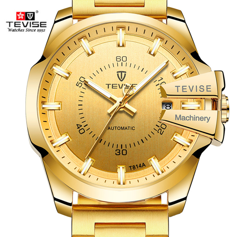 New 2018 Tevise Men Mechanical Watch Automatic Date Fashion Luxury Waterproof Gold Clock Male Sport Business Clock Reloj HombreNew 2018 Tevise Men Mechanical Watch Automatic Date Fashion Luxury Waterproof Gold Clock Male Sport Business Clock Reloj Hombre