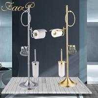 FOAP Bath Hardware Sets chrome Bathroom brush holder Tissue Holders Bathroom Accessories set Toilet Paper Holder