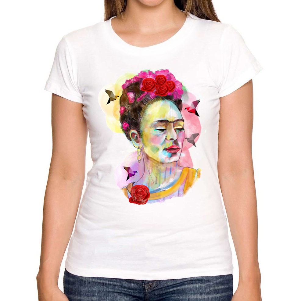 2016 new arrival fashion frida in love women print t shirt for Print one t shirt