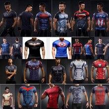 Newest DC Marvel Superhero Clothing Superman Tight T-Shirt Men 3D T Shirt Funny Cosplay Shirts Compression Bodybuilding