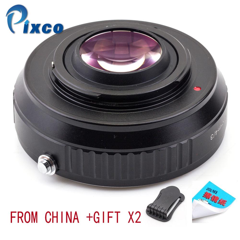 PK M 4/3 Speed Booster Focal Reducer Lens Adapter Pak Voor Pentax K Lens Pak voor Micro Four Thirds 4/3 camera Dropshipping-in Lens Adapter van Consumentenelektronica op  Groep 1