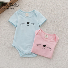 baby clothes girl boys cute cat rompers short sleeve cotton kids romper newborn infant clothing bebe overall clothes wholesale