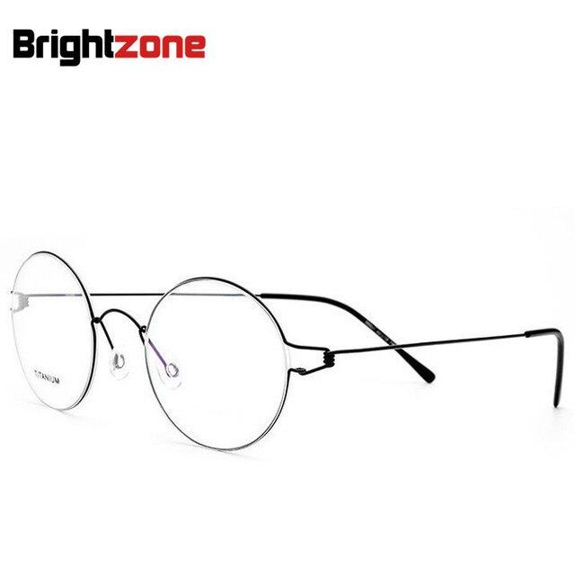 High Quality Titanium Alloy Restore Ancient Ways Oval Men And Women Slim-Edge Spectacle Eye Optical Glasses Frames 4 Men Lunette