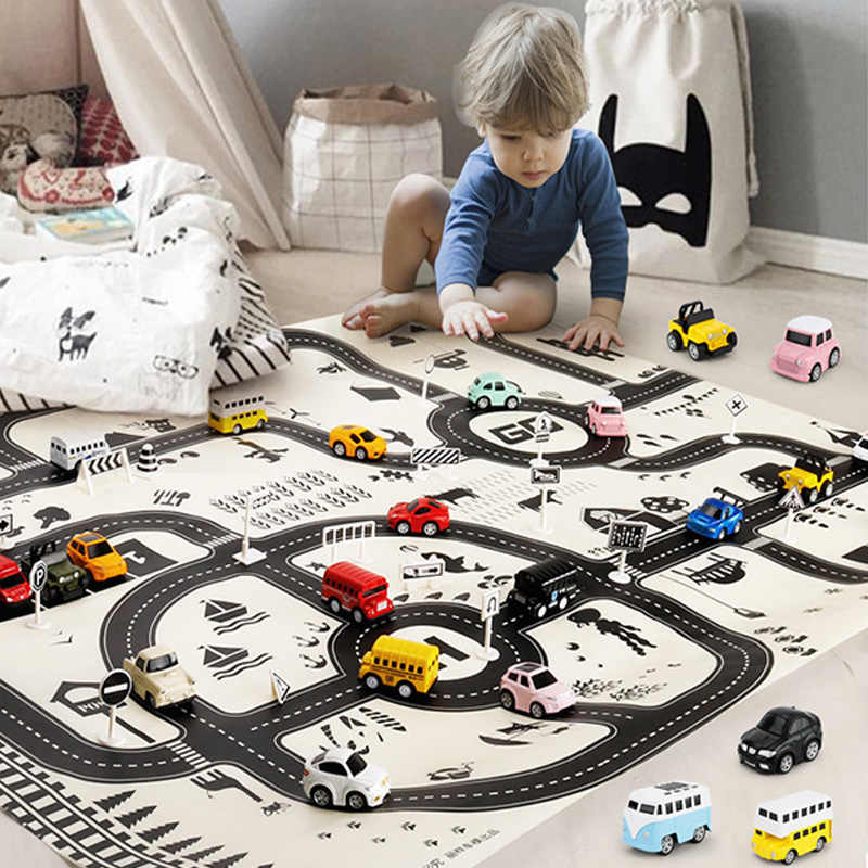 Черно-белые в скандинавском стиле коврик для маленьких игр, коврик-головоломка, игрушки, детский коврик для ползания, коврик для пола, детское постельное белье, одеяло, украшение детской комнаты