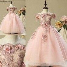 Розовые милые платья в цветочек для девочек, коллекция года, винтажные платья принцессы для дочки, красивые детские пышные платья