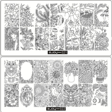 1pc Nail Art Plate Stamping ZJOY 10 Style Chinese Garland Flower For Women Image Template Print DIY Manicure Gift