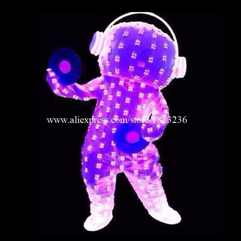 Комплетне боје водеће светлуцаве светлосне одеће Костим одећа Лигхт Уп Давид Гуетта Лед Робот одијела Парти Стаге Халловеен