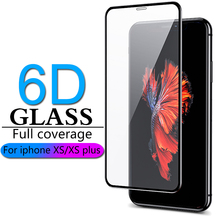 6D Full coverage protective glass for iPhone X Xr XS max glass iphone XS max Xr X screen protector iPhone X XS max Xr glass flim