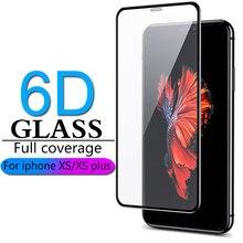 6D フルカバレッジ保護のための iphone × Xr XS 最大ガラス iphone XS 最大 Xr × スクリーンプロテクター iphone X XS 最大 Xr ガラス flim