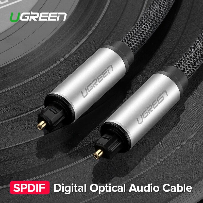Ugreen Cabo Toslink Digital Fibra Óptica Cabo de Áudio Adaptador 1m 2m Blueray PS3 3m para TV XBOX mini CD DVD Disc AV