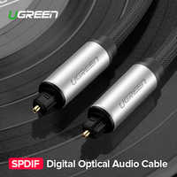 Ugreen Toslink Digital Cable Optical Fiber Audio Cable Adapter 1m 2m 3m for TV Blueray PS3 XBOX DVD CD Mini Disc AV