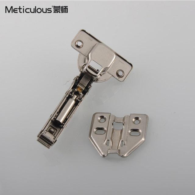 Meticulou Hinge Cold Rolled Steel Hydraulic Furniture Hinge Damper Buffer  Cabinet Cupboard Door Hinges Soft Close Concealed