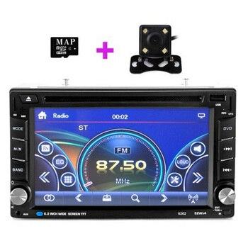 Car GPS Navigation 6.2 inch Touch Screen Universal Car Radio Multimedia Player Bluetooth Rear Camera Car GPS Accessories