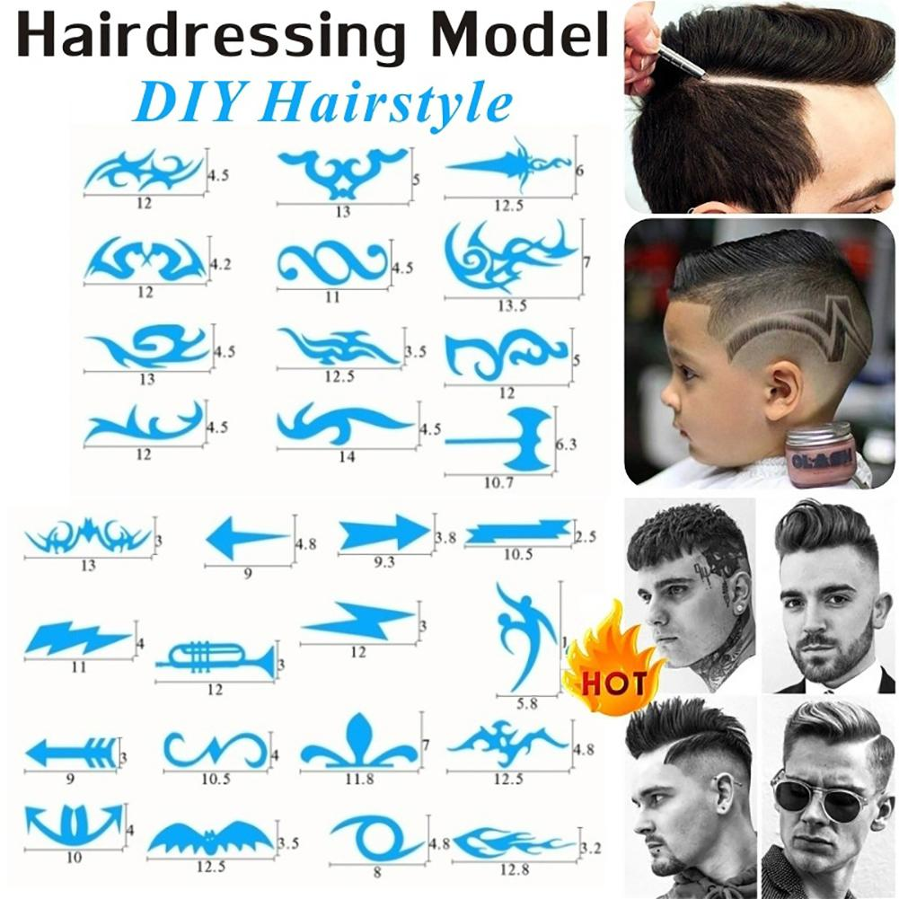 16Pcs/Pack Hair Styling Tattoo Template