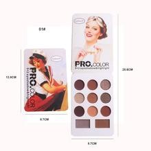 11 ColorMatte Eyeshadow Palette Nude Minerals Professional EyeShadow Powder Pigment Cosmetic Waterproof Matte Pallete