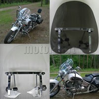 Large Windshield Windscreen 19 X17 For Harley Davidson Heritage Softail Road King Night Train With 7