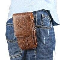 Belt Clip PU Leather Waist Holder Flip Cover Pouch Case Phone Bag For Intex Aqua Eco