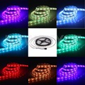 RGB multi color Led Strip 5050 SMD 5M 300 Leds Strip Light LED TAPE DC12V 24V full color Led String Bar rope Neon Light rgb Lamp