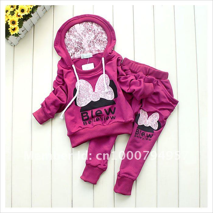 Aliexpress.com : Buy 1set 3colors kids sport wear Baby Clothing ...