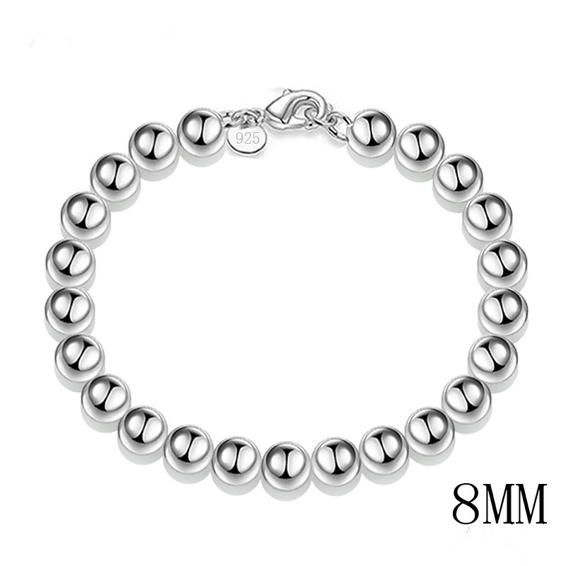 Top Quality Charm Bracelets Famous Silver Plated Fashion jewelry Round Beads Brand Bracelet for woman jewelry wholesale ZK30