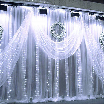 3x1/4x2/3x3m 300 LED Icicle fairy String Lights Christmas led Wedding Party Fairy Lights garland Outdoor Curtain Garden Decor 1