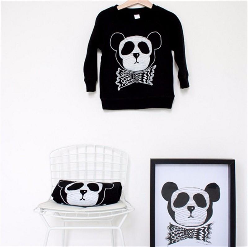7For Boys Girls Sweater T-Shirts Clothes Autumn Winter New Panda Bear Printing Tops Kids Sweatershirt  Tees Clothing Full Sleeve 05