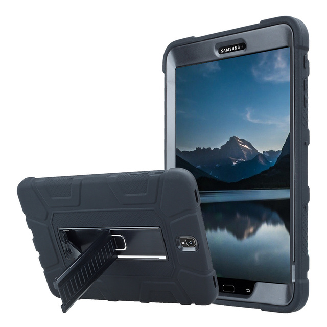 newest 2f53b e83ac US $12.54 24% OFF For Samsung Galaxy Tab S3 9.7 SM T820 T825 Rugged Armor  Tablet Case Cover Kids Safe Shockproof Silicone+PC Hard Case w/Kickstand-in  ...