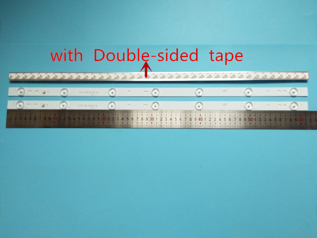 20 piezas x 32 pulgadas placa de aluminio tiras LED con lente óptica Fliter Panel de TV lámparas de contraluz longitud 61,5 cm envío gratis
