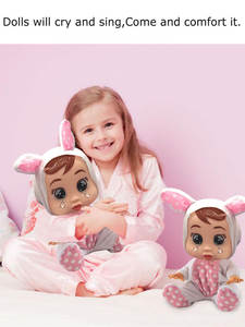 Babies Doll Cry Silicone Lifelike Baby Toy Girls
