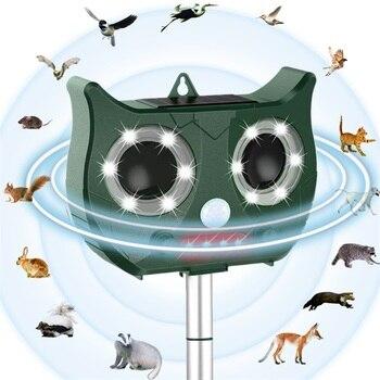 2019 новый ультразвуковой на солнечной батарее отпугиватель животных включает литиевую батарею, водонепроницаемый Отпугиватель вредителей ...