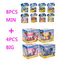 8pcsMin+4pcsBig Super Wings Deformation Airplane Robot Action Figures Super Wings Transformation toys for children Brinquedos