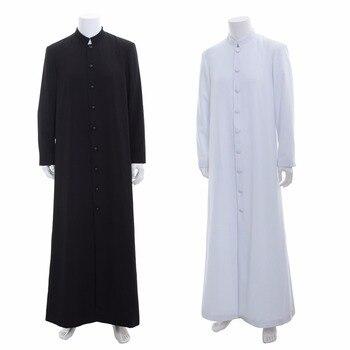 aeb88cb39737 Cosplaydiy средневековой Викка язычество ритуальный халат костюм и ряса в  римском стиле православная длинный жилет халат