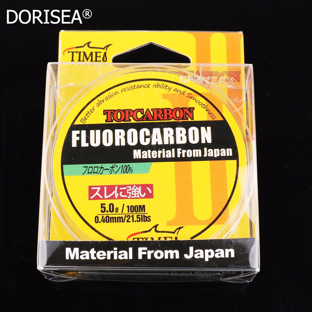 Visokokakovostne ribiške črte s fluoroogljikom 100m 4,4-35,2 LB Fishing Fishing Fly Fishing Flight Clear Transparent Color Monofilament Line